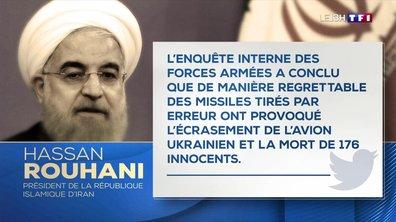 Écrasement d'un Boeing ukrainien en Iran : Hassan Rohani reconnaît la responsabilité de son pays dans le crash
