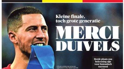 En Belgique, la presse en berne mais fière de ses Diables