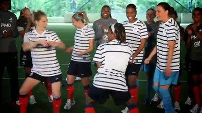 Perle Lama et Lynnsha encouragent l'équipe de France féminine