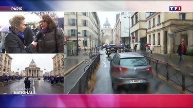 """""""Je me devais d'être là pour témoigner à Arnaud Beltrame toute mon admiration"""", dit une passante émue présente devant les Invalides"""