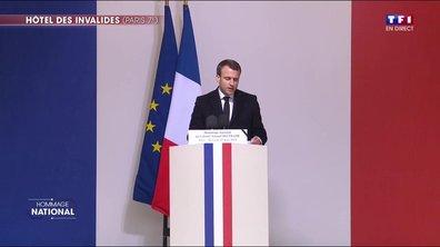 """Arnaud Beltrame """"savait qu'il avait rendez-vous avec la mort"""", dit Emmanuel Macron"""
