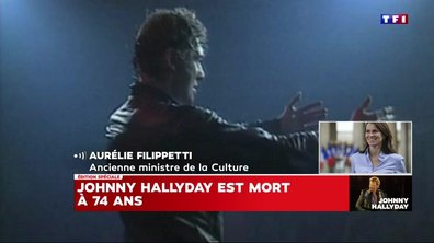 Aurélie Filippetti : « Johnny était une figure nationale »