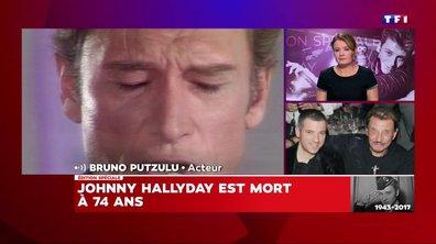 Bruno Putzulu rend hommage à Johnny Hallyday