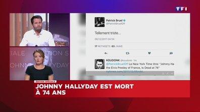 Céline Dion, Hélène Ségara, Patrick Bruel réagissent à la mort de Johnny Hallyday
