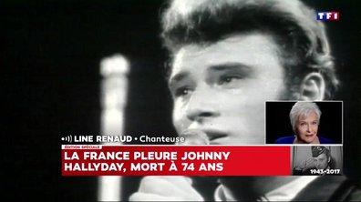 L'hommage émouvant de Line Renaud à Johnny Hallyday