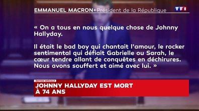 Mort de Johnny Hallyday : l'hommage d'Emmanuel Macron