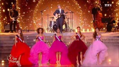 Miss France 2018 – Tableau final pour les 5 Miss avec Ed Sheeran