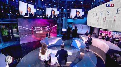 """""""Ne pas se positionner (pour le second tour), c'est renforcer madame Le Pen et un projet de sortie de l'Europe"""", dit Emmanuel Macron"""