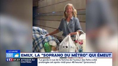 "Emily, la ""soprano du métro"" qui émeut"