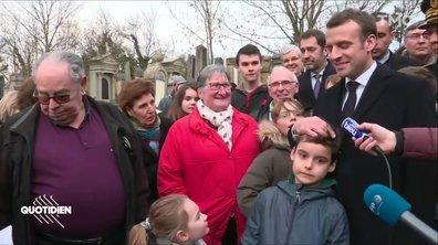 Emmanuel Macron à deux doigts du scalp d'enfant