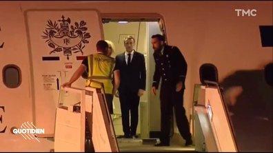 Emmanuel Macron arrive en Argentine… et est accueilli par un gilet jaune