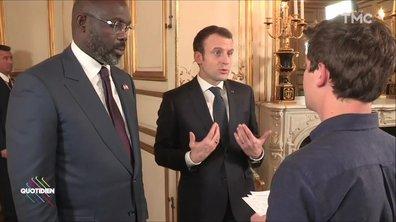 """Emmanuel Macron assume """"totalement"""" sa politique migratoire"""