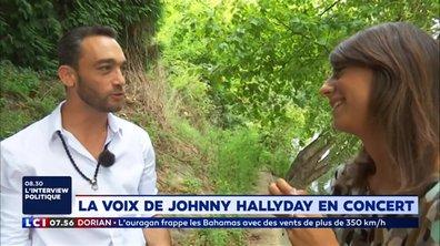 """""""Emmenez-Moi"""" : La voix de Johnny Hallyday en concert"""
