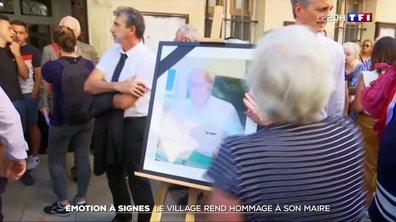 Émotion à Signes : le village rend hommage à son maire
