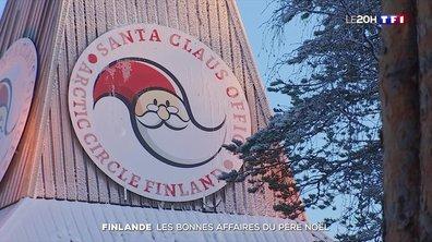 En Laponie, à Rovaniemi, le père Noël fait de bonnes affaires