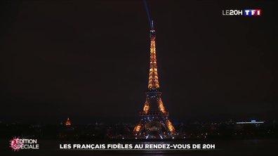 En solidarité avec les soignants, la Tour Eiffel scintille deux fois plus longtemps à 20h