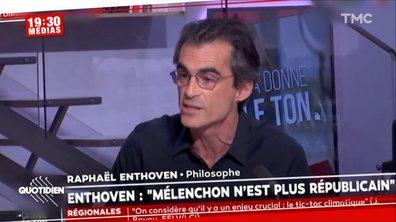 Entre Jean-Luc Mélenchon et Marine Le Pen, Raphaël Enthoven a fait son choix