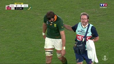 Angleterre - Afrique du Sud (0 - 3) : Voir la blessure de de Jager en vidéo