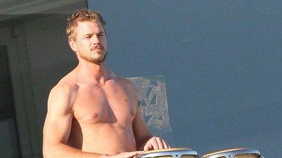 Grey's Anatomy : Eric Dane tape sur des bambous sur la plage de Malibu