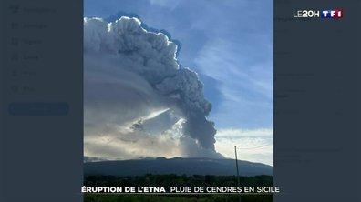 Éruption de l'Etna : pluie de cendres en Sicile