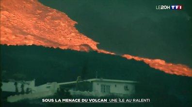 Éruption du volcan Cumbre aux Canaries : l'île de Palma au ralenti