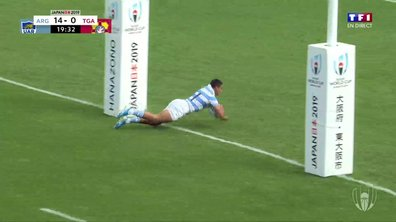 Argentine - Tonga (21 - 0) : Voir l'essai de Carreras en vidéo