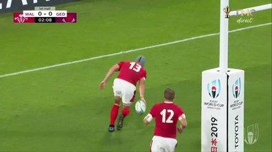 Pays de Galles - Géorgie (5 - 0) : Voir l'essai de J. Davies en vidéo