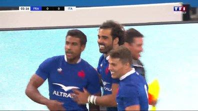 France - Italie (5 - 0) : Voir l'essai de Huget en vidéo
