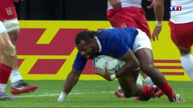 France - Tonga (17 - 0) : Voir l'essai de Raka en vidéo