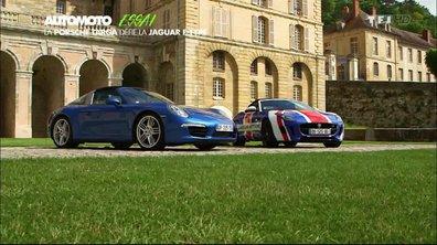 Essai Vidéo : Porsche 911 Targa vs Jaguar F-Type