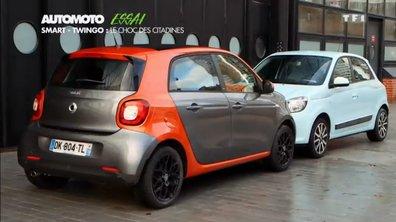 Essai Vidéo : Smart Forfour contre Renault Twingo