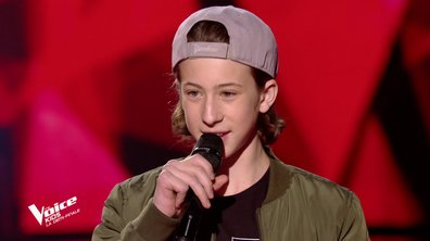The Voice Kids : Esteban chante « La pluie » d'Orelsan (Team Jenifer)
