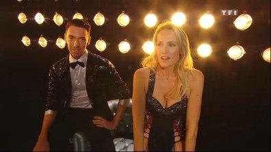 Estelle et Maxime se préparent à entrer en scène...