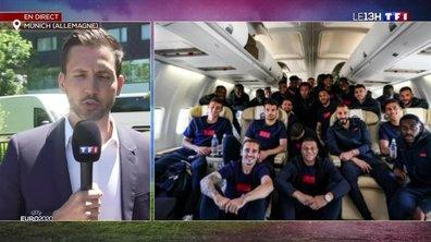 Euro : l'équipe de France arrivée à Munich