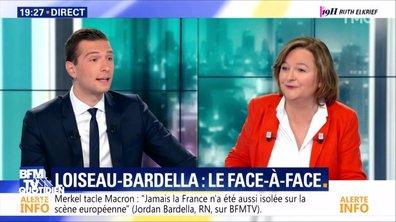Européennes : le face à face binaire Nathalie Loiseau vs Jordan Bardella sur BFMTV