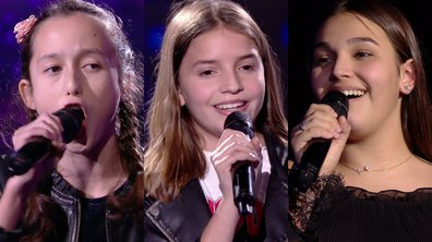 Eva VS Valéria VS Manon chantent « Flames » de David Guetta & Sia (Team Patrick Fiori)
