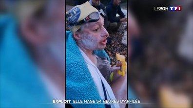 Exploit : elle nage 54 heures d'affilé dans la Manche
