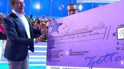 Fabrice éliminé, il récupère un magnifique chèque des mains de Jean-Luc Reichmann