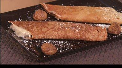 Crêpes de châtaigne à la mousse de marron