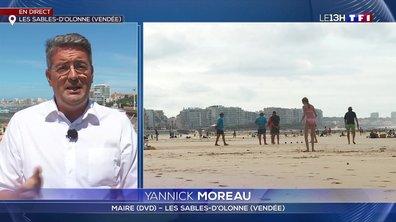"""Fermeture de plages aux Sables-d'Olonne : """"il ne faut pas dramatiser la situation"""", Yannick Moreau"""