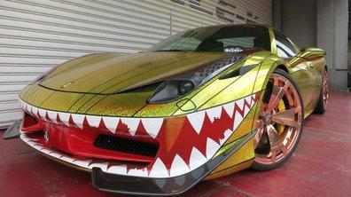 Insolite : Office-K offre une gueule de requin à la Ferrari 458 Spider