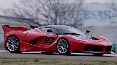 La Ferrari FXX K pilotée par Sebastian Vettel sur circuit