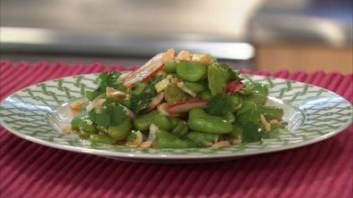 Salade de fèves à l'orientale