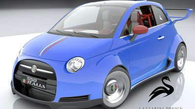 Insolite : une Fiat 500 à moteur V8 Ferrari...