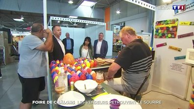 Foire de Châlons-en-Champagne : les vendeurs retrouvent le sourire