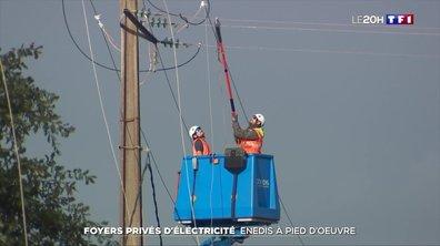 Foyers privés d'électricité en Nouvelle-Aquitaine : les techniciens d'Enedis à pied d'œuvre