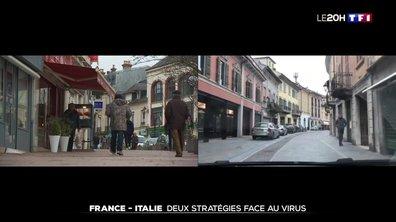 France - Italie : deux stratégies différentes face au coronavirus