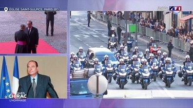L'arrivée de François Hollande à Saint-Sulpice