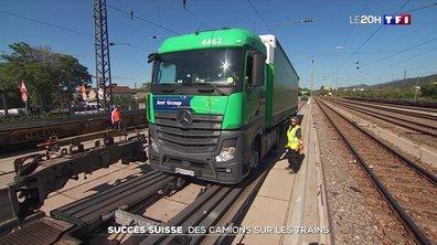Fret ferroviaire : la Suisse incite les transporteurs à mettre leurs camions sur les trains