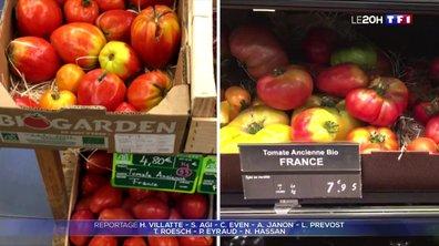 Fruits et légumes : le bio plus cher en supermarché